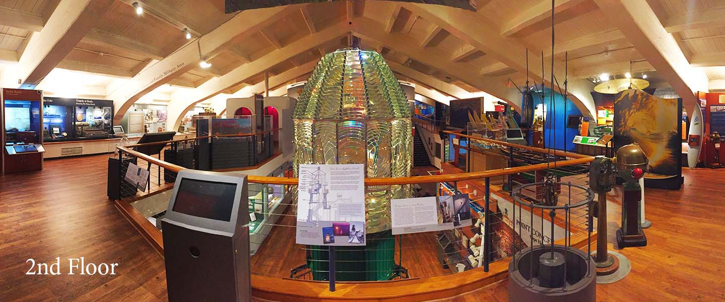 Photo of the Point Conception Lighthouse Lens from the second floor