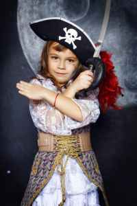 Photo of girl as a buccaneer