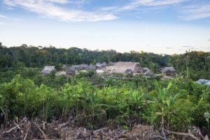 Amazon tribe village