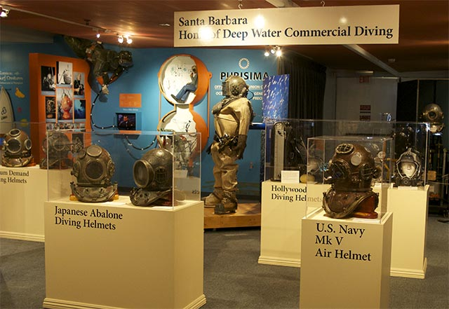 Deep sea diving helmets exhibit