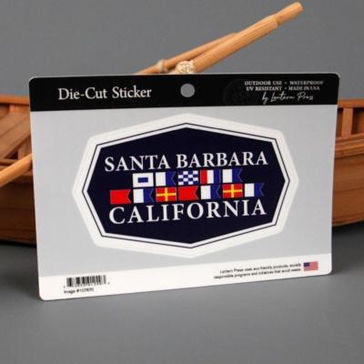 Santa Barbara Nautical Flag Sticker