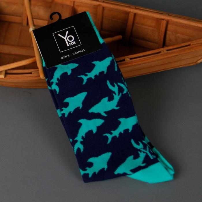 Mens Novelty Shark Socks